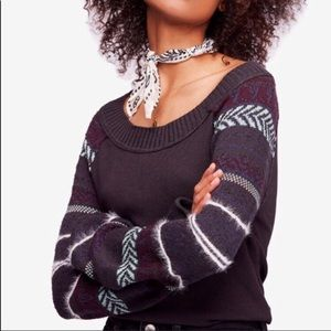 Free People Fairground Thermal Knit Sweater